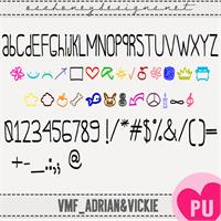 Sample image of Oh_Adrian&Vickie font by VMF@VickieMartinez