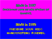 Sample image of KidPixies New font by heaven castro