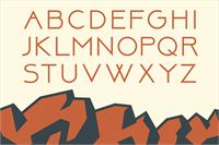 Sample image of Above DEMO font by Herofonts