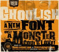 Sample image of Ghoulish font by Sinister Fonts