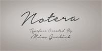Sample image of Notera Personal Use Only font by Måns Grebäck