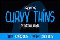 Sample image of Curvy Thins font by Darrell Flood