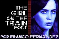 Sample image of The Girl on the Train font by FZ