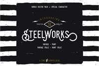 Sample image of Steelworks Vintage Demo font by burntilldead