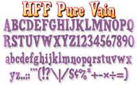 Sample image of HFF Pure Vain font by Have Fun with Fonts