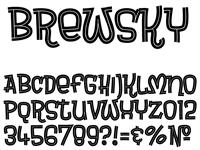 Sample image of Brewsky font by Tup Wanders