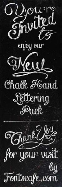 Sample image of Chalk-hand-lettering-shaded_dem font by FontsCafe