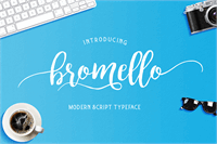 Sample image of bromello font by Alit Design