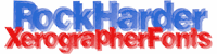 Sample image of RockHarder font by Xerographer Fonts
