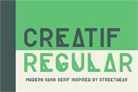 Sample image of Creatif font by Out Of Step Font Company