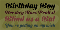 Sample image of Shine Personal Use font by Billy Argel