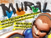Sample image of VTKS  mural font by VTKS DESIGN
