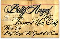 Sample image of Billy Argel Font by Billy Argel
