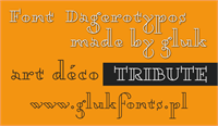 Sample image of Dagerotypos font by gluk