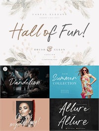 Sample image of Hall Of Fun DEMO font by Konstantine Studio