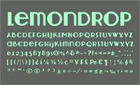 Sample image of Lemondrop font by Nymphont