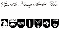 Sample image of Spanish Army Shields Two font by Intellecta Design