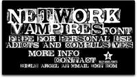 Sample image of NETWORK VAMPIRES font by Billy Argel