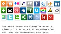Sample image of SocialIcons font by ptocheia