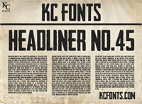 Sample image of Headliner No. 45 font by KC Fonts