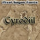 Cyrodiil font by Pixel Sagas