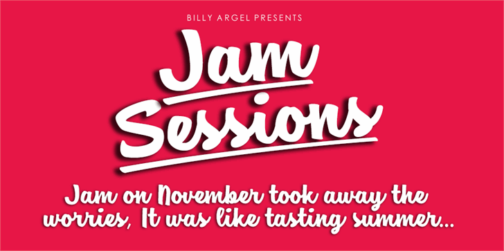 Jam Sessions Personal Use font by Billy Argel