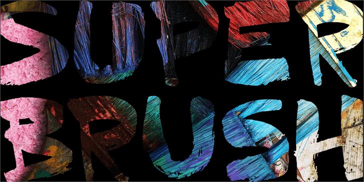 DK Superbrush font by David Kerkhoff