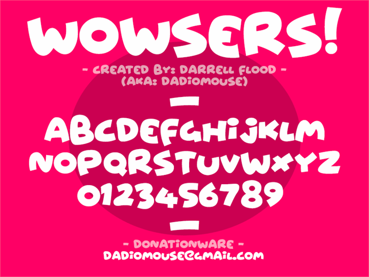 Image for Wowsers font