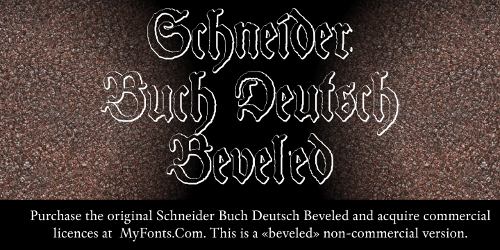 Image for Schneider Buch Deutsch Beveled  font