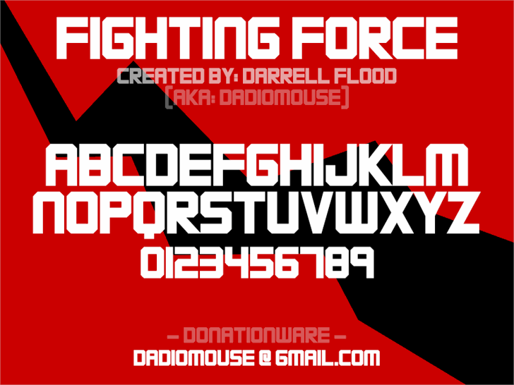 Image for FIGHTING FORCE font