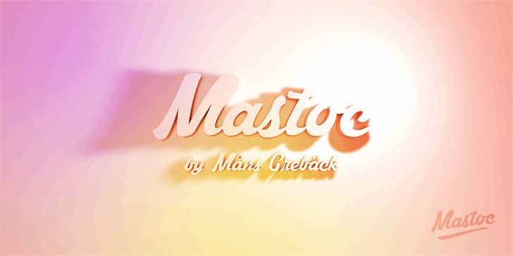 Image for Mastoc Personal Use Only font