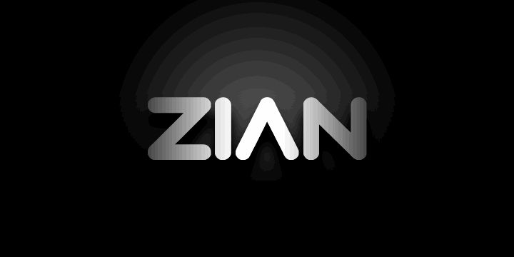 Image for Zian font
