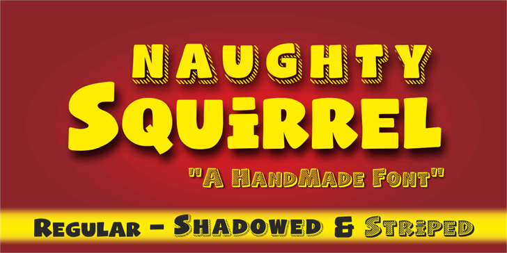 Naughty Squirrel Demo font by studiotypo
