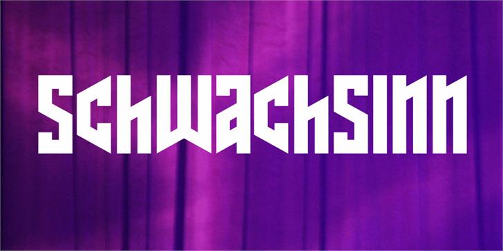 Schwachsinn font by Vladimir Nikolic