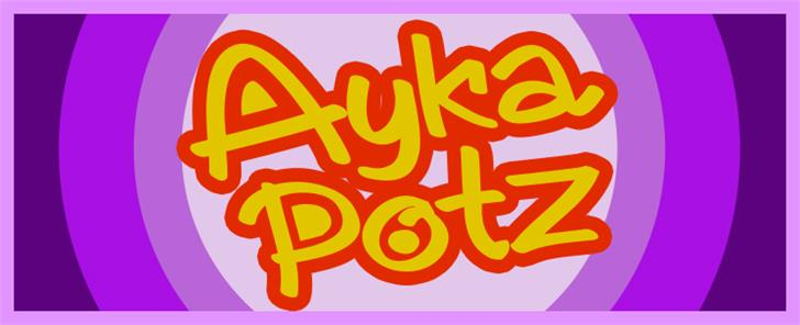 AykaPoTz font by VVB DESIGNS