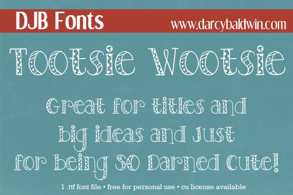 Image for DJB TOOTSIEWOOTSIE font