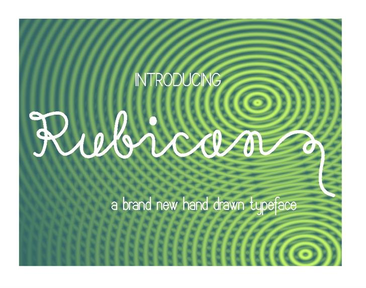Image for Rubican font