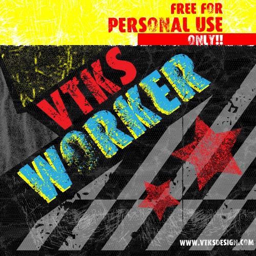 Image for VTKS WORKER font