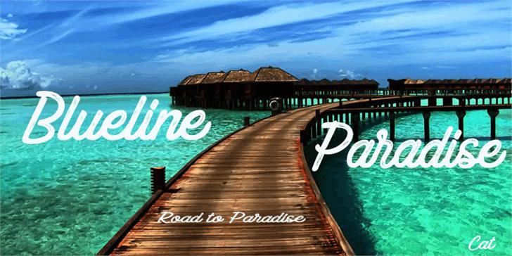 Image for Blueline Paradise font