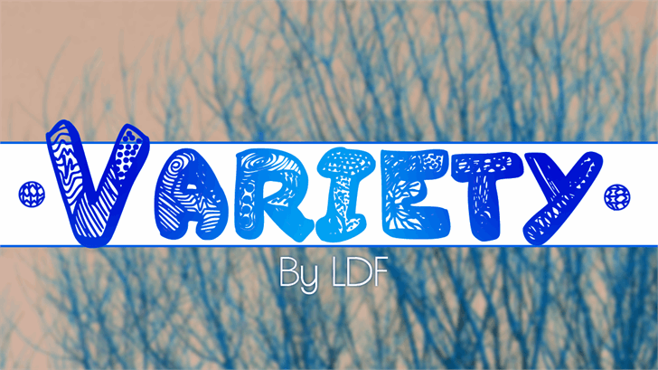 Image for Variety font