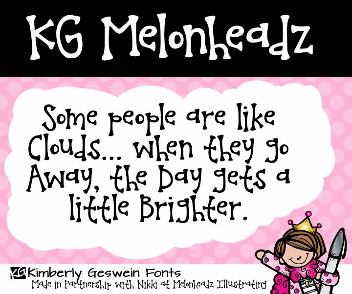 Image for KG Melonheadz font