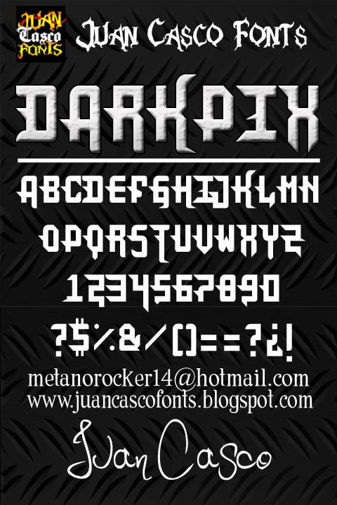 DarkPix font by Juan Casco