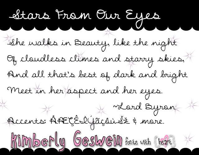 Image for Stars From Our Eyes font