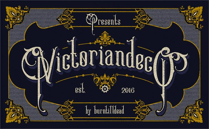 Image for Victoriandeco Regular font