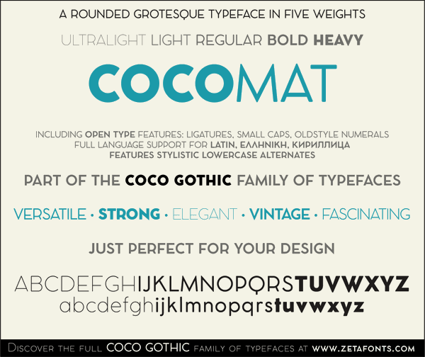 Image for COCOMAT font