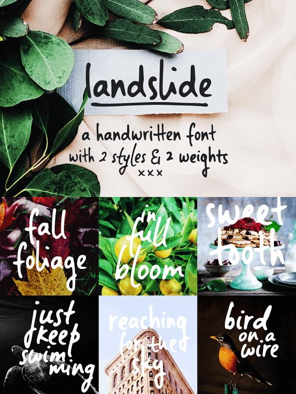 Image for Landslide Sample font