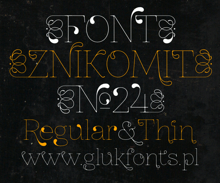 Image for ZnikomitNo24 font