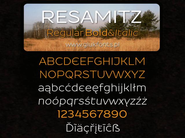 Image for Resamitz font