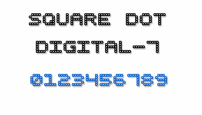 Image for Square Dot Digital-7 font