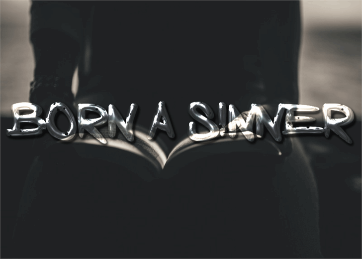 Image for Born a Sinner font